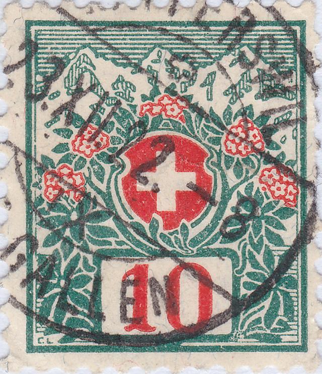 SBK 32, Schweizer Wappen und Alpenrosen 32_2_t10