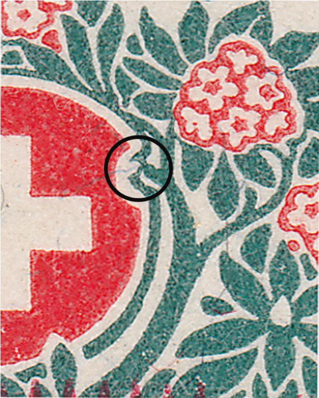 SBK 41, Schweizer Wappen und Alpenrosen,Aufbrauchsausgabe 41_2_015