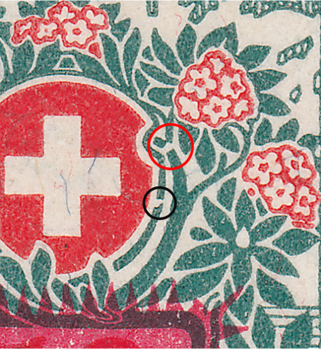 SBK 41, Schweizer Wappen und Alpenrosen,Aufbrauchsausgabe 41_2_016