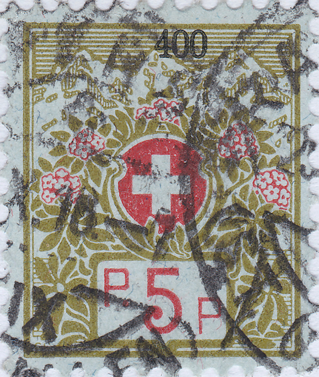 SBK 4A (Mi 4I) Schweizer Wappen und Alpenrosen 4a_2_510