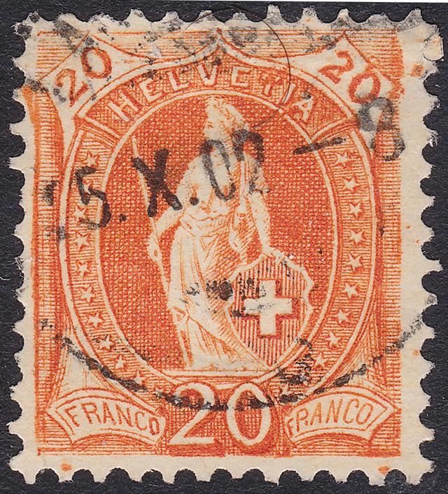 SBK 66E, Stehende Helvetia 20 Rp 66e_2_21