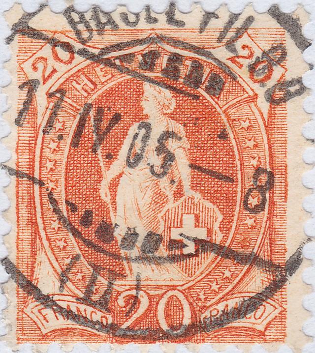 SBK 66E, Stehende Helvetia 20 Rp 66e_2_28