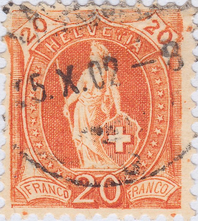 SBK 66E, Stehende Helvetia 20 Rp 66e_2_34