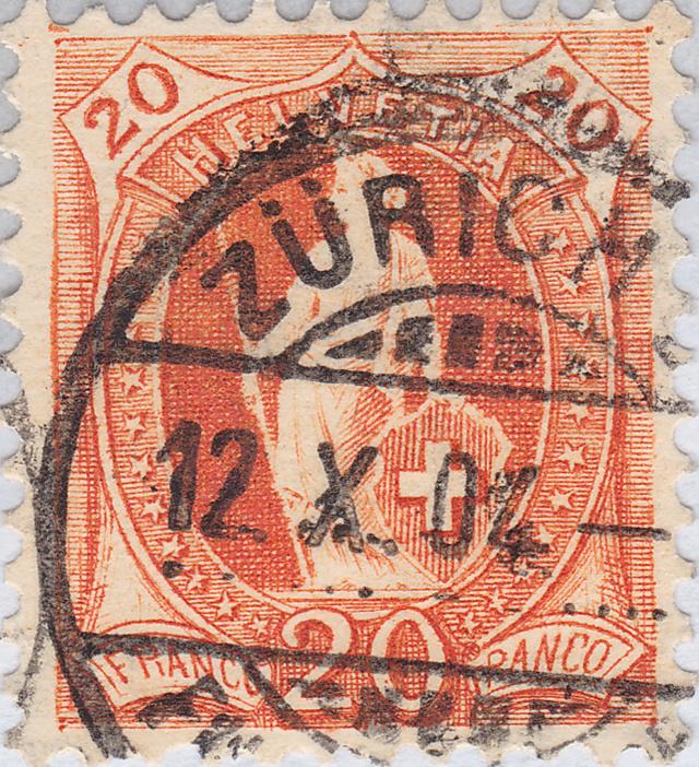 SBK 66E, Stehende Helvetia 20 Rp 66e_3_14