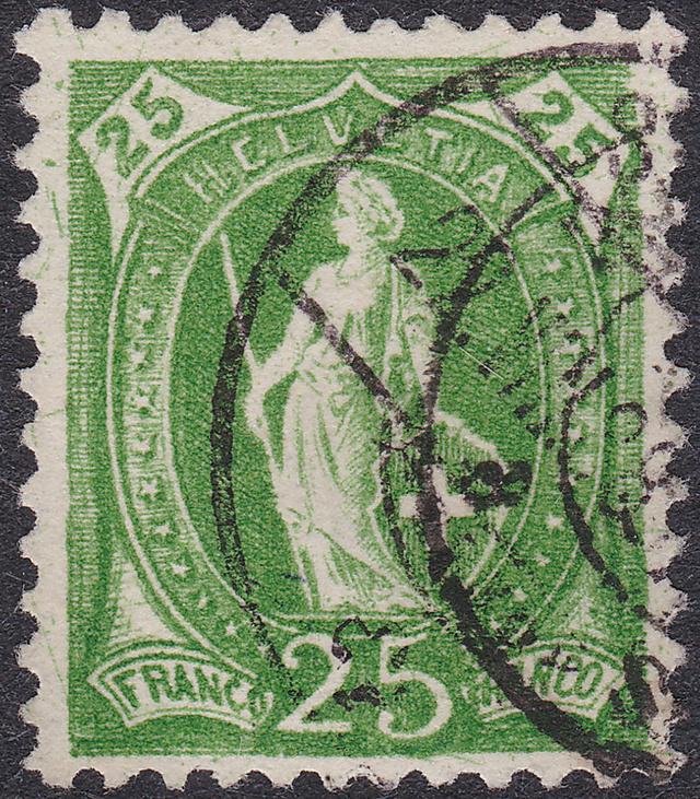 SBK 67A, Stehende Helvetia 25 Rp 67a_3_21