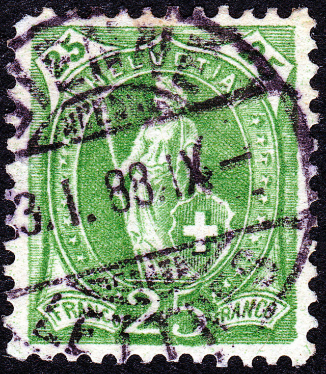 SBK 67A, Stehende Helvetia 25 Rp 67a_3_26