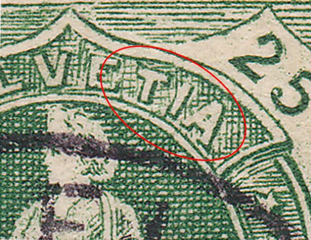 SBK 67D, Stehende Helvetia 25 Rappen 67d_3_33