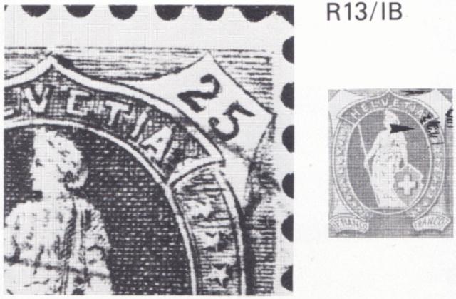 SBK 67D, Stehende Helvetia 25 Rappen 67d_3_36