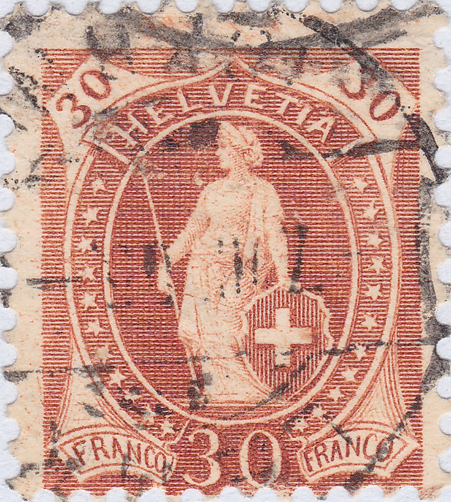 SBK 68D, Stehende Helvetia 30 Rp 68d_3_17