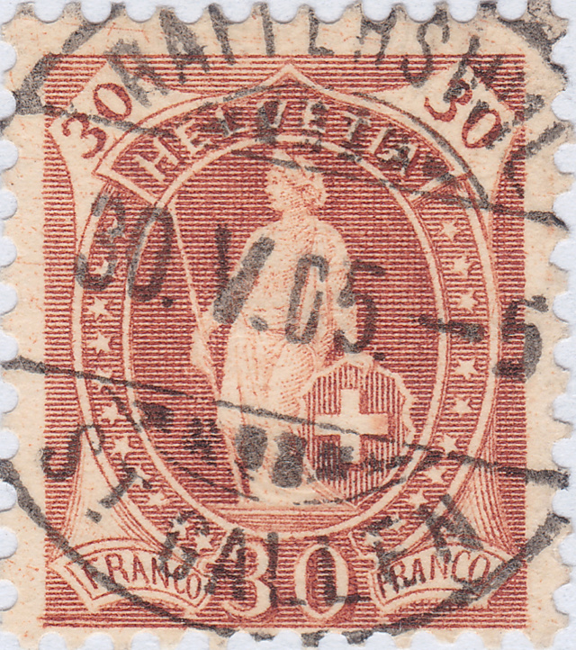 SBK 68D, Stehende Helvetia 30 Rp 68d_3_22