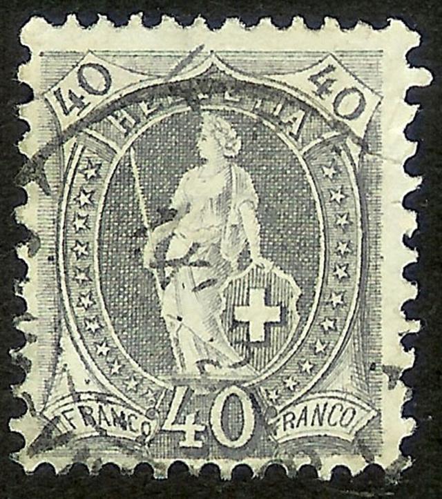 SBK 69D, Stehende Helvetia 40 Rp 69d_2_10