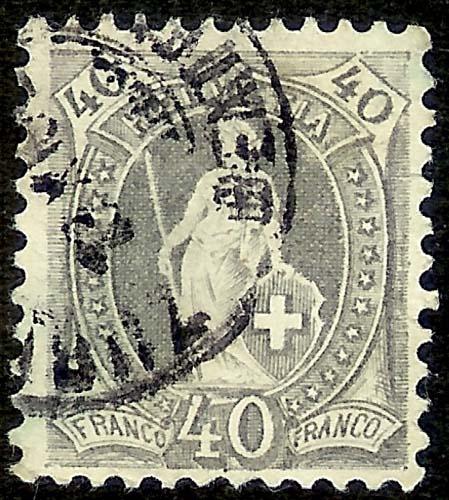 SBK 69D, Stehende Helvetia 40 Rp 69d_2_12