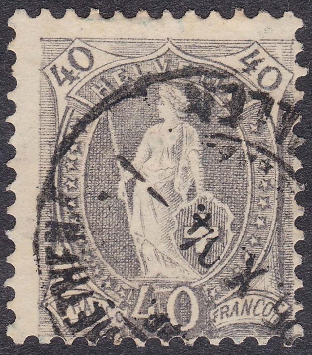 SBK 69E, Stehende Helvetia 40 Rp, grau 69e_3_10