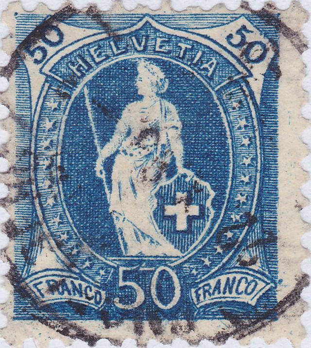 SBK 70D, Stehende Helvetia 50 Rp 70d_2_29