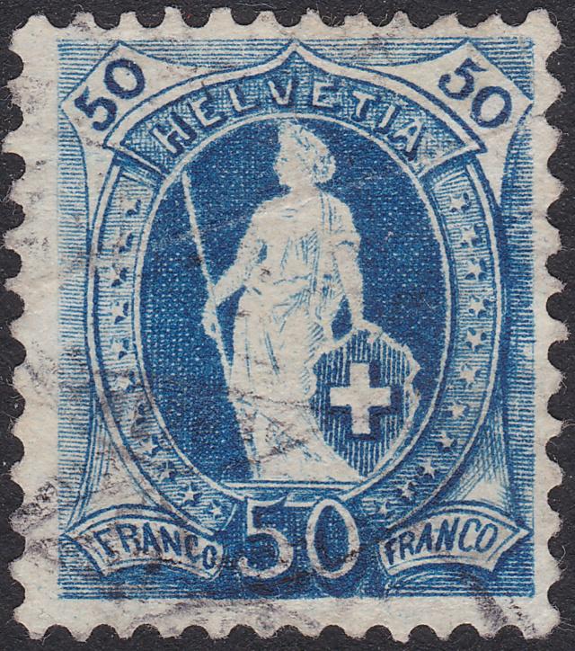 SBK 70D, Stehende Helvetia 50 Rp 70d_3_15