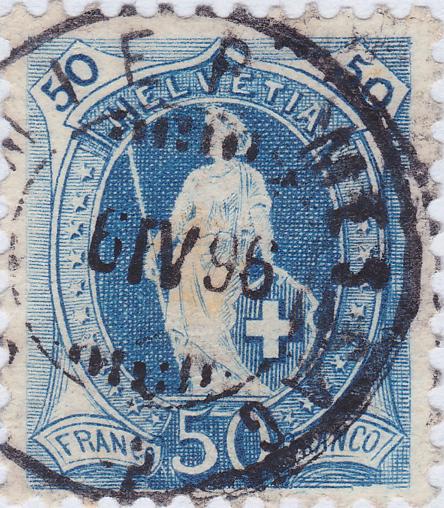 SBK 70D, Stehende Helvetia 50 Rp 70d_3_19
