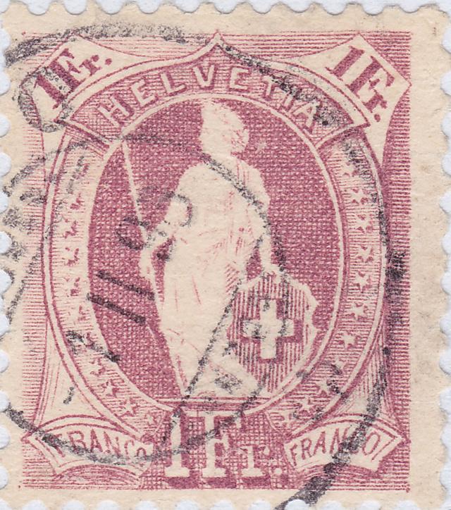 SBK 71A, Stehende Helvetia 1 Fr 71a_2_12