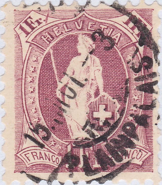 SBK 71D, Stehende Helvetia 1 Fr 71d_2_12
