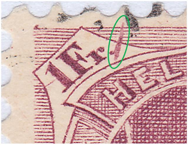 SBK 71D, Stehende Helvetia 1 Fr 71d_2_13