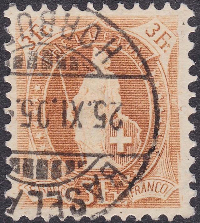 SBK 72D, Stehende Helvetia, 3 Franken 72d_2_10