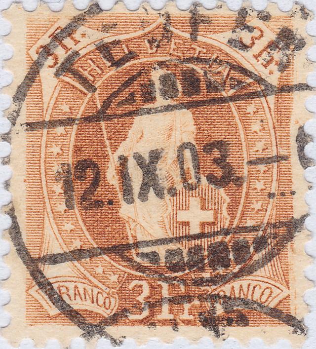 SBK 72E, Stehende Helvetia 3 Fr 72e_2_13