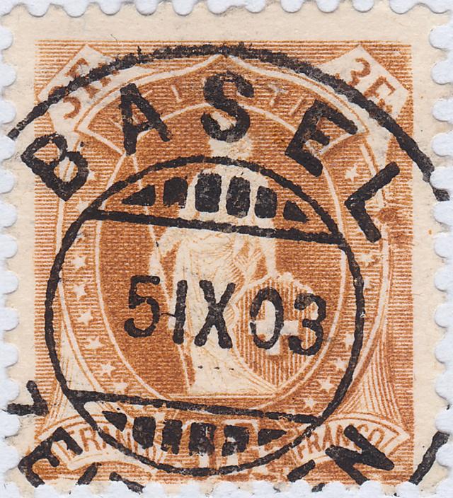 SBK 72E, Stehende Helvetia 3 Fr 72e_3_13