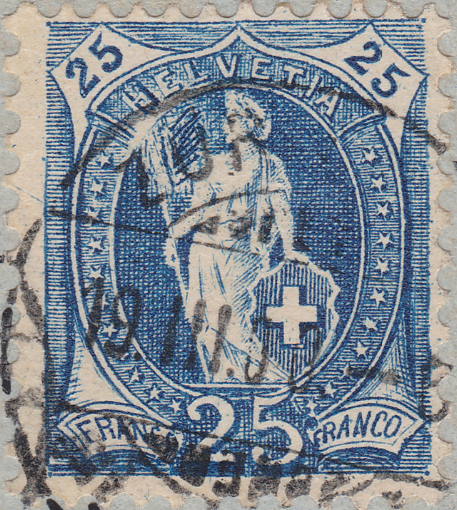 SBK 73D, Stehende Helvetia 25 Rappen 73d_3_31