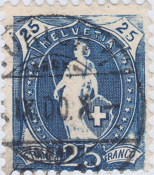 SBK 73D, Stehende Helvetia 25 Rappen 73d_3_37