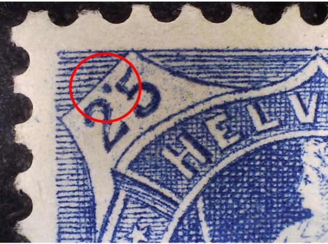 SBK 73E, Stehende Helvetia 25 Rappen 73e_2_11