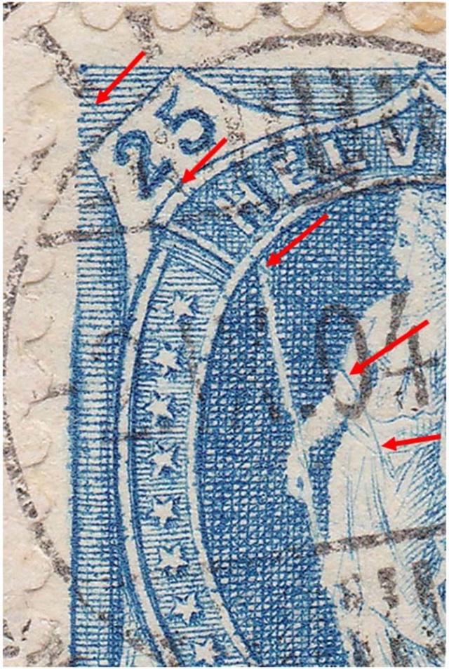 SBK 73E, Stehende Helvetia 25 Rappen 73e_2_14