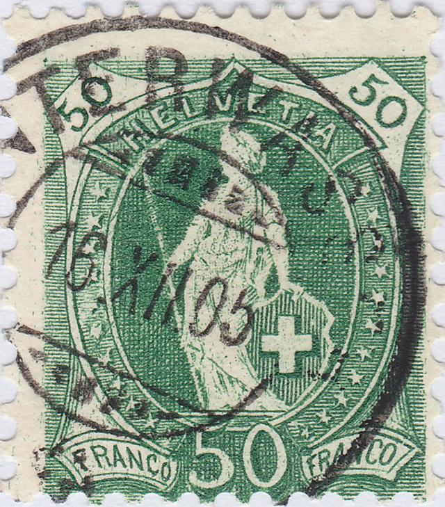 SBK 74D, Stehende Helvetia, 50 Rappen 74d_3_26