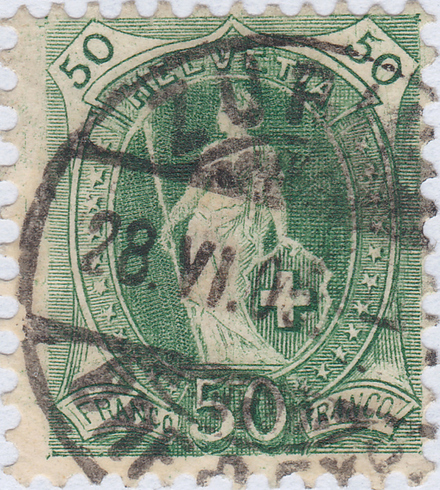 SBK 74D, Stehende Helvetia, 50 Rappen 74d_3_34