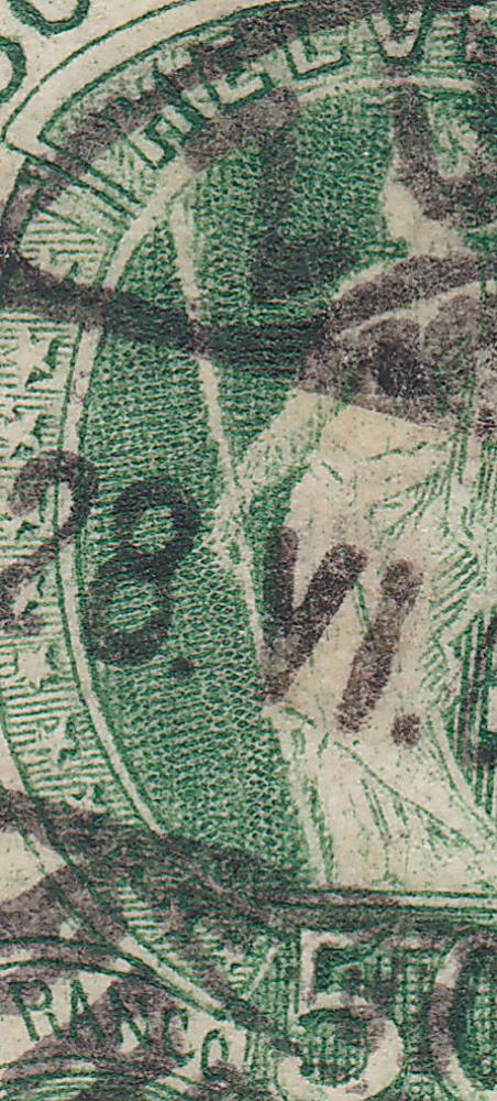 SBK 74D, Stehende Helvetia, 50 Rappen 74d_3_35