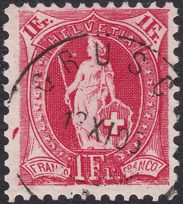SBK 75D, Stehende Helvetia, 1 Franken 75d_2_10