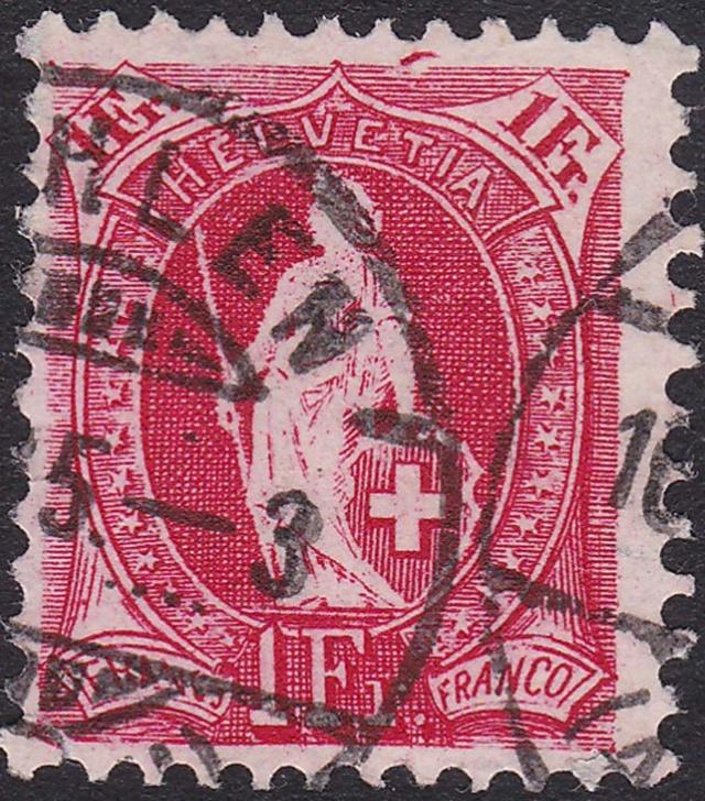 SBK 75D, Stehende Helvetia, 1 Franken 75d_2_12