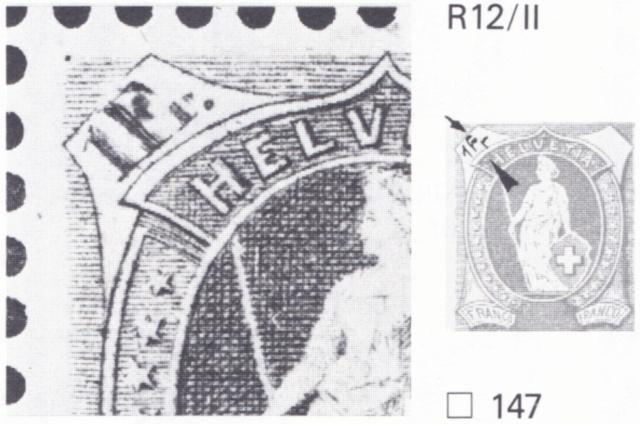 SBK 75E, Stehende Helvetia 1 Fr, karmin 75e_3_11