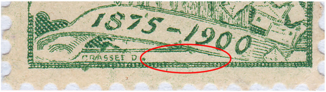 SBK 77B (Mi 71II) 5 Rp grün, 2. Platte 77b_3_10