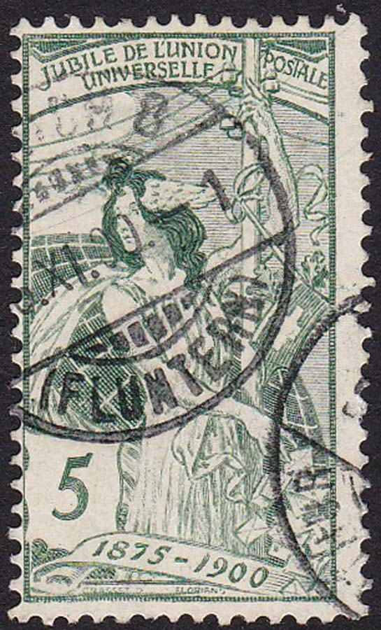 SBK 77C (Mi 71III) 5 Rp grün, 3. nachgravierte Platte 77c_3_10