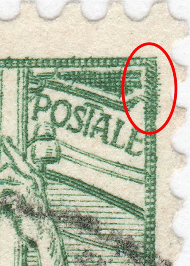 SBK 77C (Mi 71III) 5 Rp grün, 3. nachgravierte Platte 77c_3_14