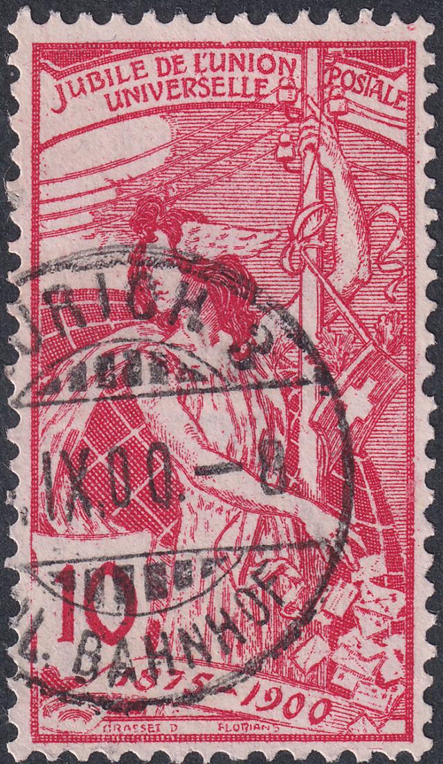 SBK 78B (Mi 72II), 10 Rp rot, zweite Platte 78b-2-11