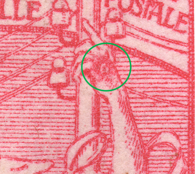 SBK 78B (Mi 72II), 10 Rp rot, zweite Platte 78b_2_14