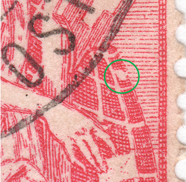 SBK 78B (Mi 72II), 10 Rp rot, zweite Platte 78b_2_17