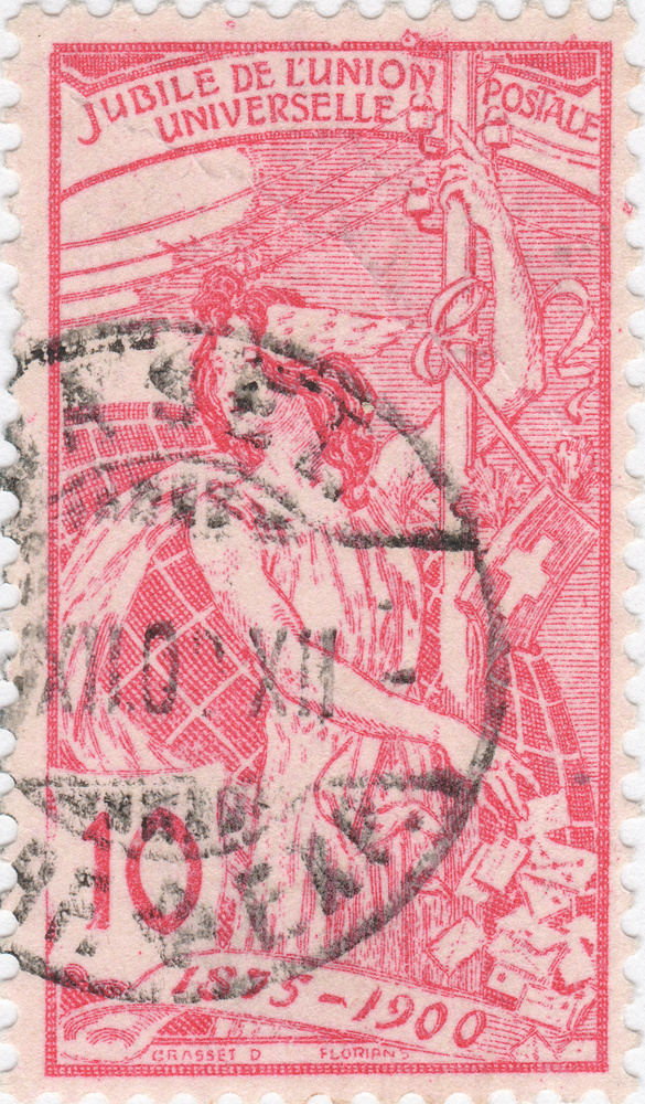 SBK 78B (Mi 72II), 10 Rp rot, zweite Platte 78b_2_19