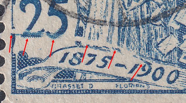 SBK 79A (Mi 73I) 25 Rp blau, 1. Platte 79a-3-10