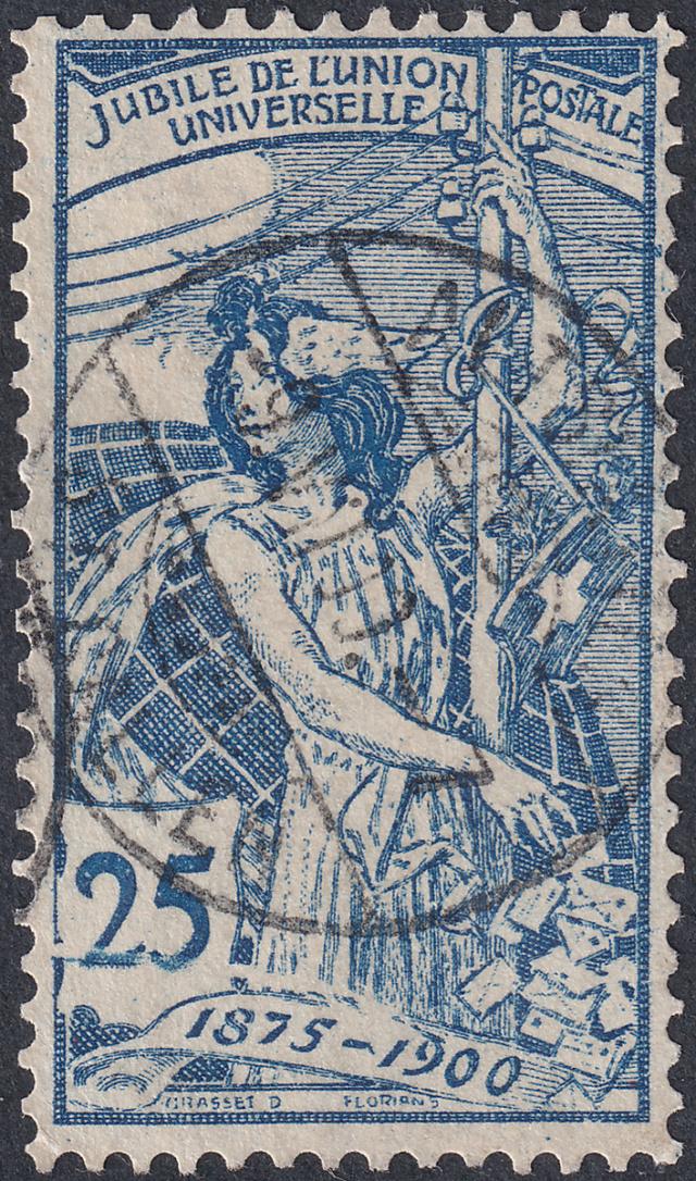 SBK 79A (Mi 73I) 25 Rp blau, 1. Platte 79a-3-11