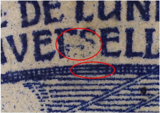 SBK 79B (Mi 73II) 25 Rp blau, 2. Platte 79b_3_11