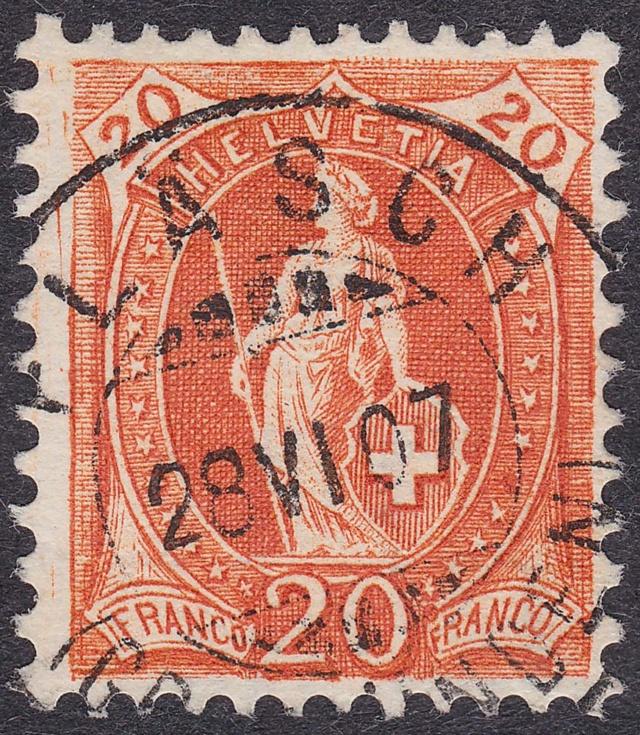 SBK 86A Stehende Helvetia 20Rp 86aa_210
