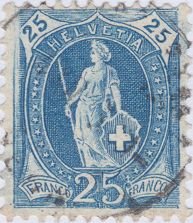 SBK 87A, Stehende Helvetia, 25 Rappen 87a_2_11