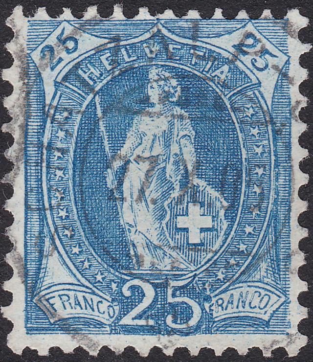 SBK 87A, Stehende Helvetia, 25 Rappen 87a_3_11
