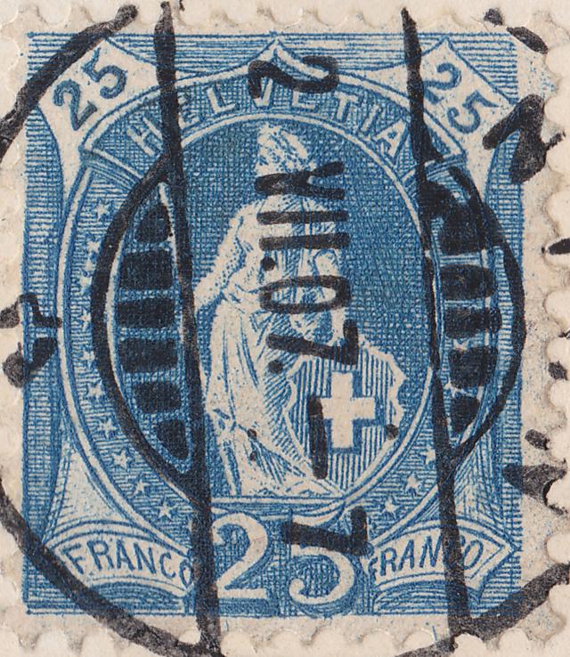 SBK 87A, Stehende Helvetia, 25 Rappen 87a_3_14